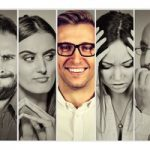 Gesichter mit verschiedenen Emotionen.