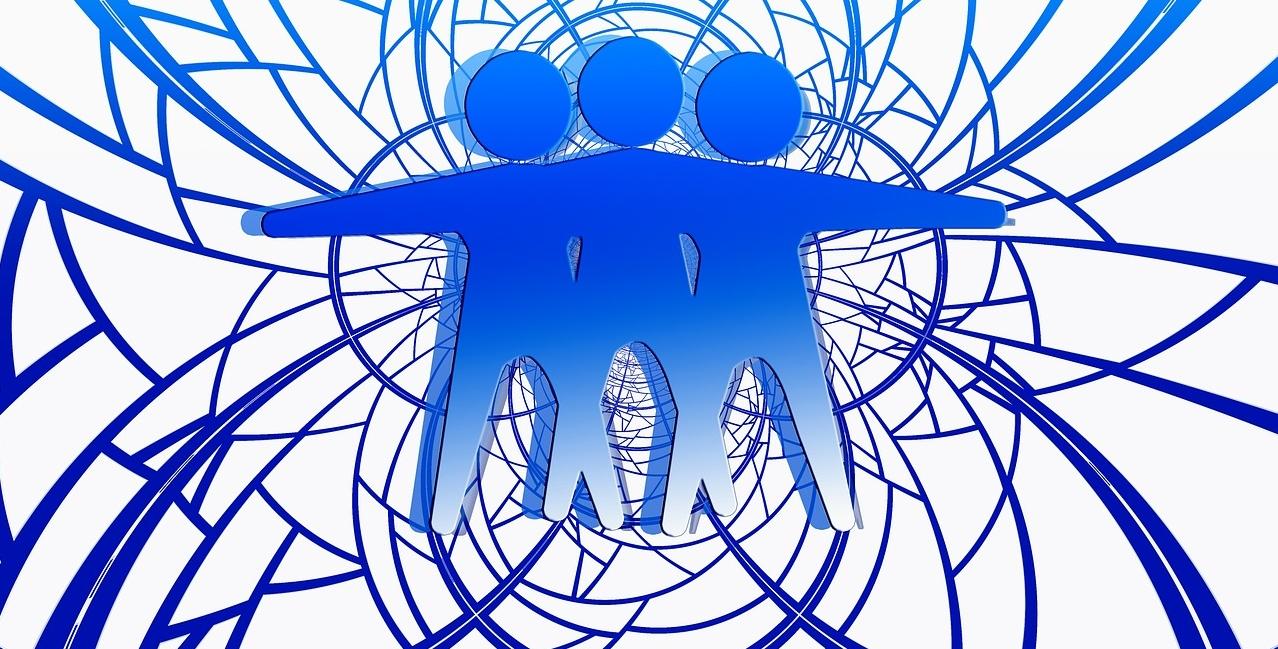 3 Figuren eng verbunden