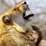 Löwe und Mädchen, Symbol für Hochsensibilität und Kraft
